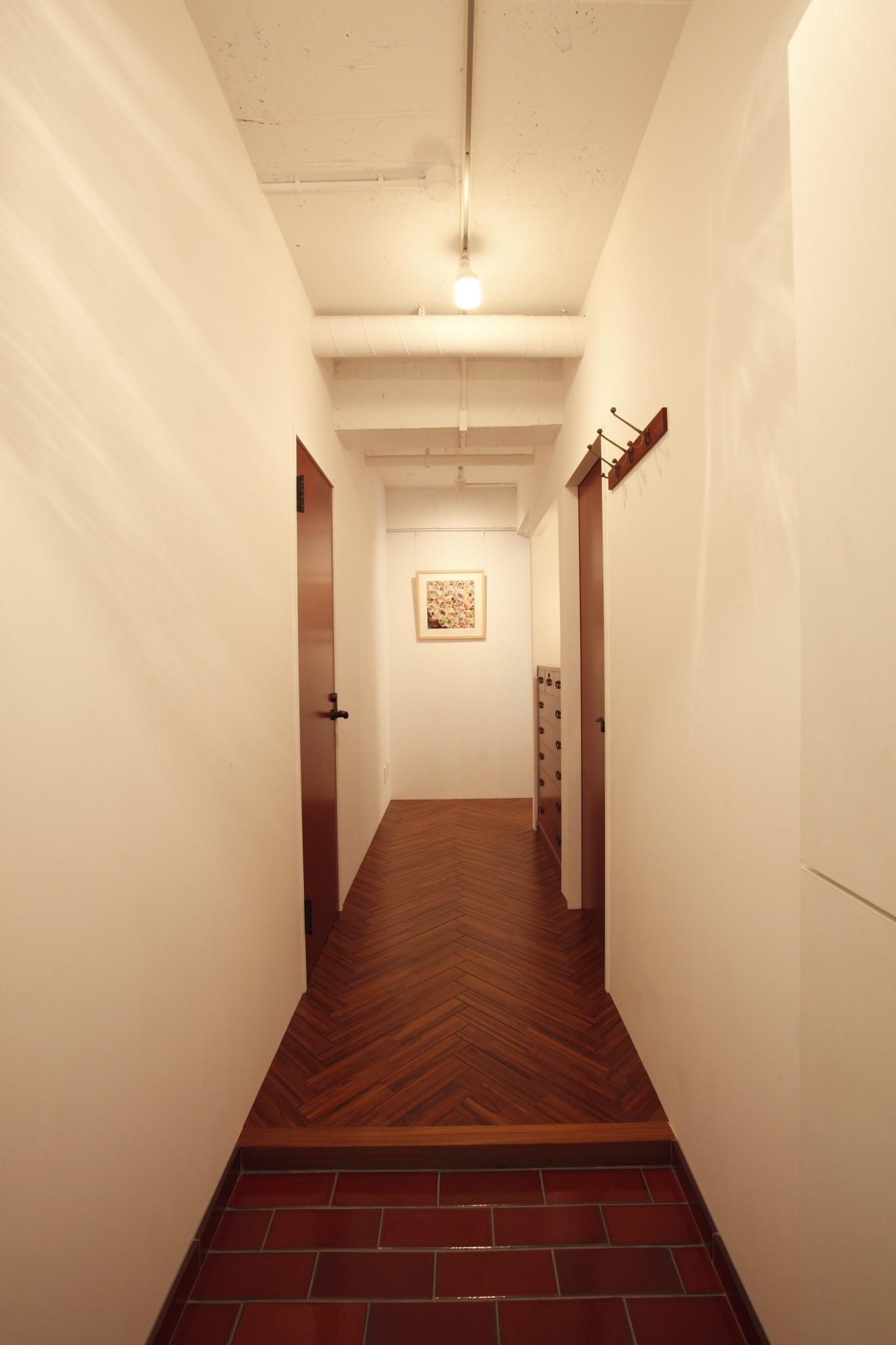 ブルック、煉瓦、タイル、玄関、廊下、リノベーション