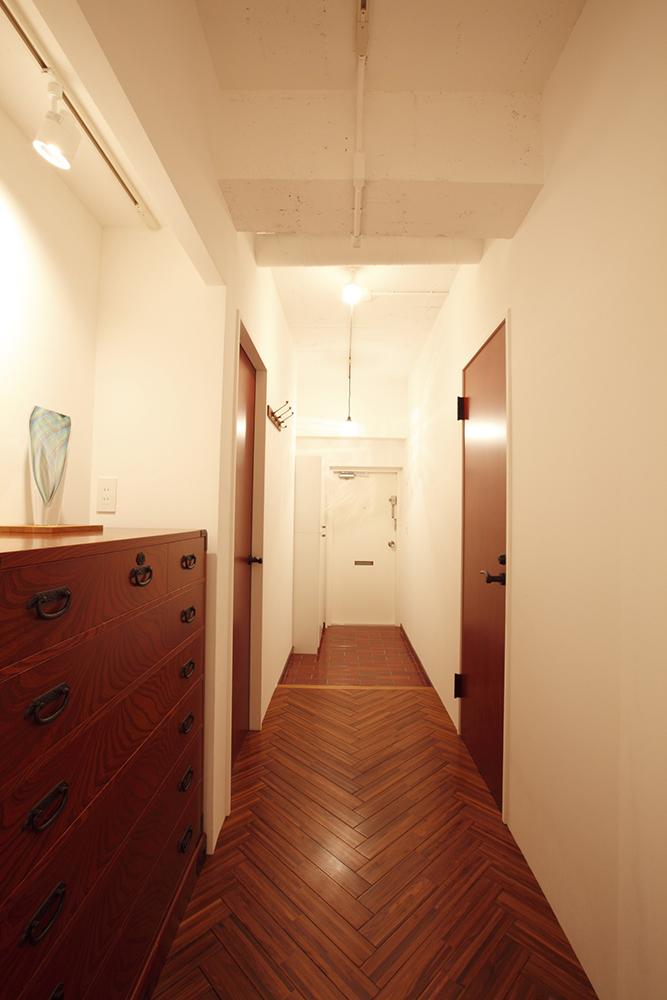 ヘリンボーン、床、キッチン、ステンレス、天板、リノベーション東京