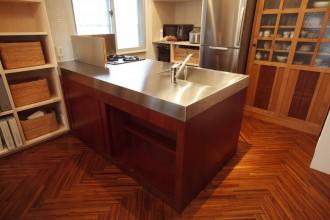 キッチン、造作、オーダーメイド、台所、対面、スケルトン、リフォーム