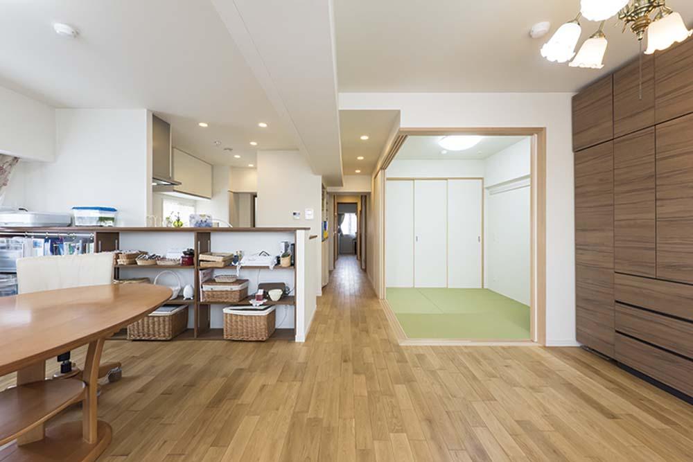 LDK、和室、畳、引き戸、押し入れ、マンション、リノベーション、livlan、リブラン