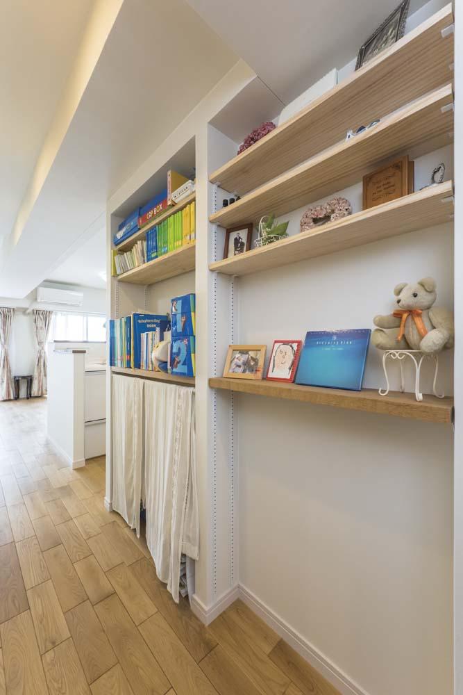 廊下、飾り棚、LDK、収納、マンション、livlan、リブラン