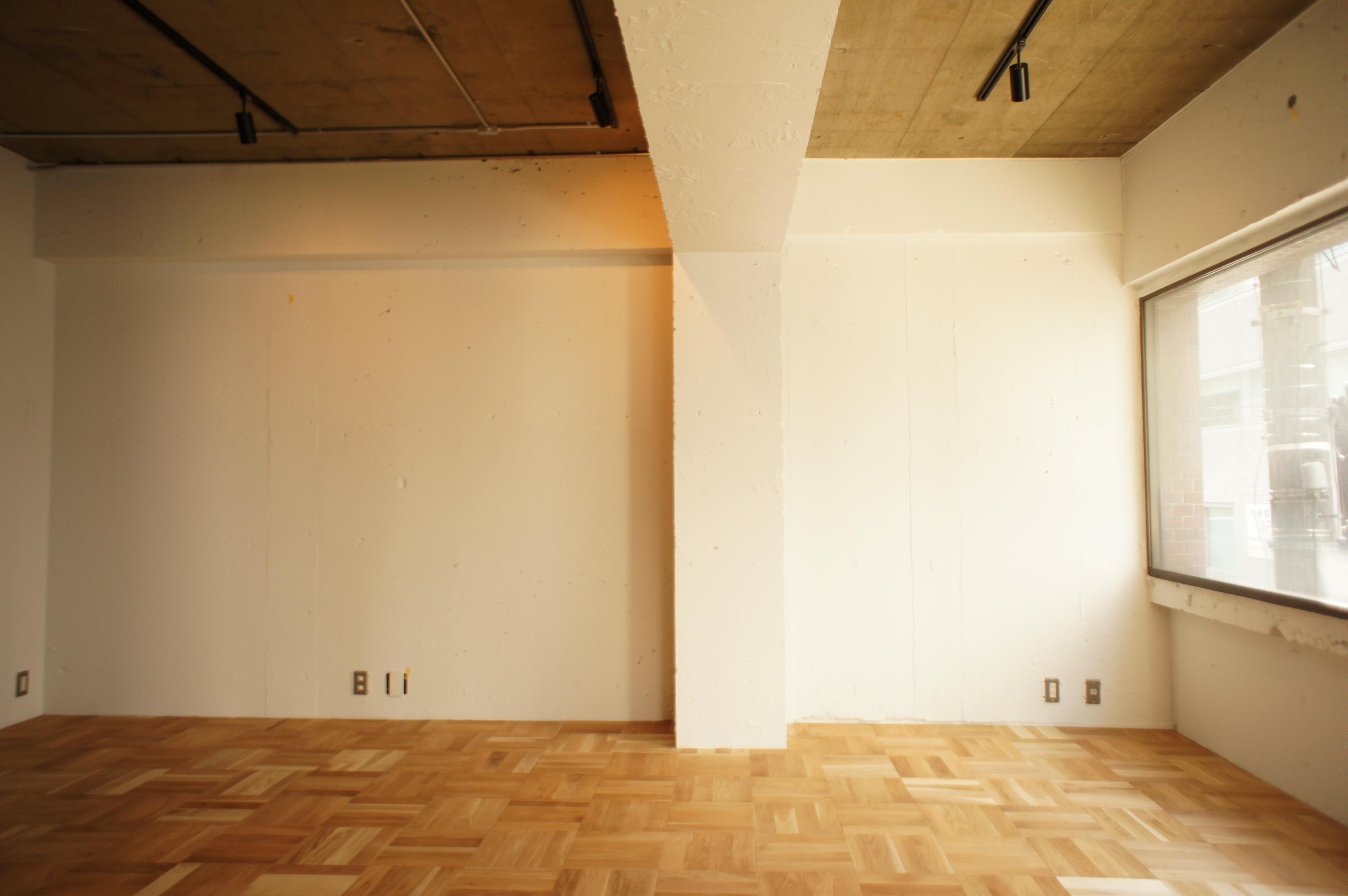 梁、塗装、ワンルーム、マンション、東京リノベ