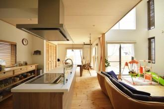 LDK、キッチン、アイランド、対面、オープン型、スタイル工房