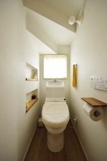 トイレ、壁、ニッチ、収納、自然素材、スタイル工房