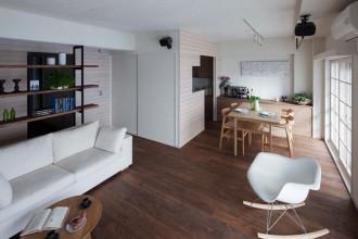 杉板、板張り、フローリング、壁、自然素材、セミオープン、リノベーション、リブラン