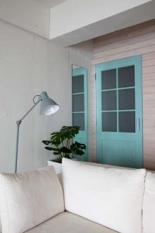 塗装、ドア、建具、板張り、壁、リブラン