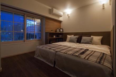 インナーサッシ、寝室、ベッドルーム、リノベーション、livlan