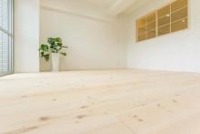 リビング、パイン、床、フローリング、自然素材、室内窓、マンション、一歩