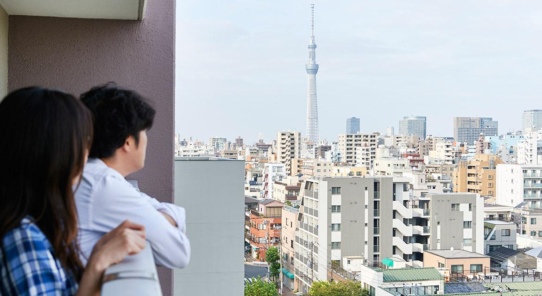 ベランダ、眺望、景色、マンション、リノベーション、インテリックス空間設計