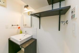 洗面台、塗装、収納、棚、ワンストップ、リノベーション、一歩