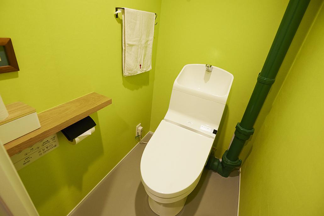 トイレ、壁紙、クロス、水回り、団地リノベーション、リノまま