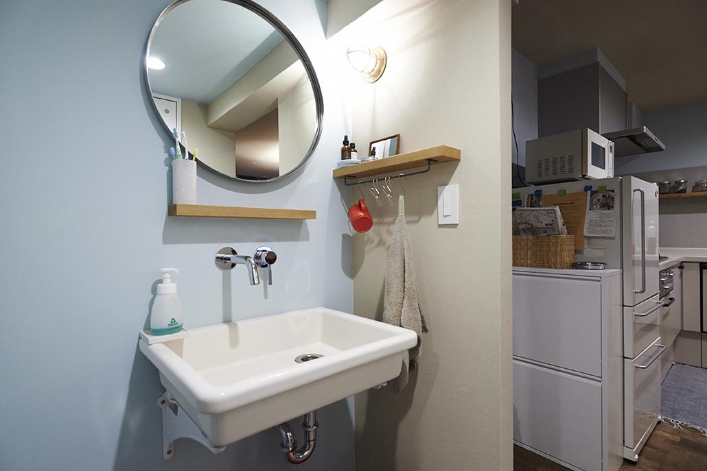 洗面所、家事、動線、水回り、団地、リノベーション、リフォーム、リノまま