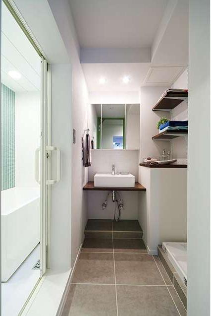 洗面、脱衣所、サニタリー、洗濯機、水回り、動線、間取り、インテリックス