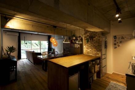 ダイニング、キッチン、カウンター、収納、造作、中古マンション、リノベーション、スタイル工房