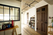 室内窓、漆喰、珪藻土、壁、自然素材、マンション、リノベーション、スタイル工房