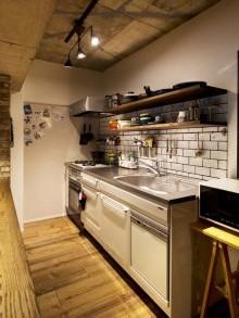 キッチン、パネル、壁面、アクセント、ブルックタイル、スタイル工房