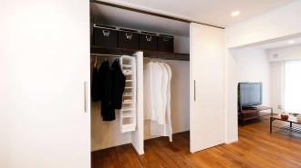 書斎、クロゼット、収納、洋服、団地リノベーション、