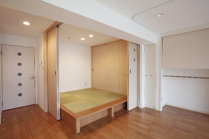 和室、小上がり、床下収納、引き戸、畳、マンションリノベーション、リノベーション東京