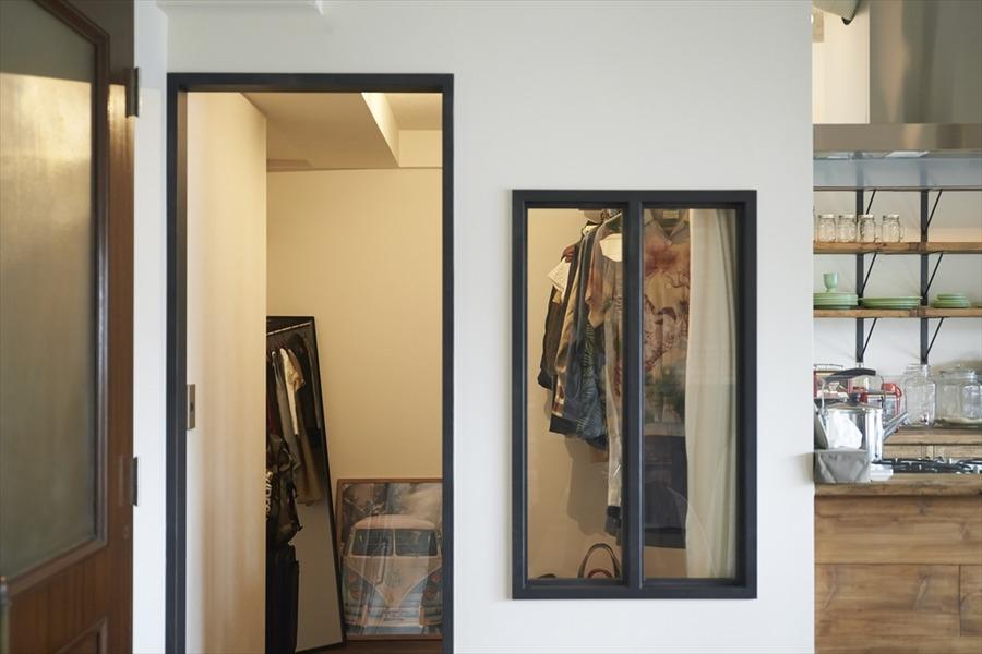WIC、アイアン、室内窓、クロゼット、収納、マンション、リノベーション、ハウズライフ