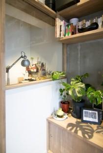 パイプスペース、収納、造作、ガラス、壁、マンション、リノベーション、個室、エキップ