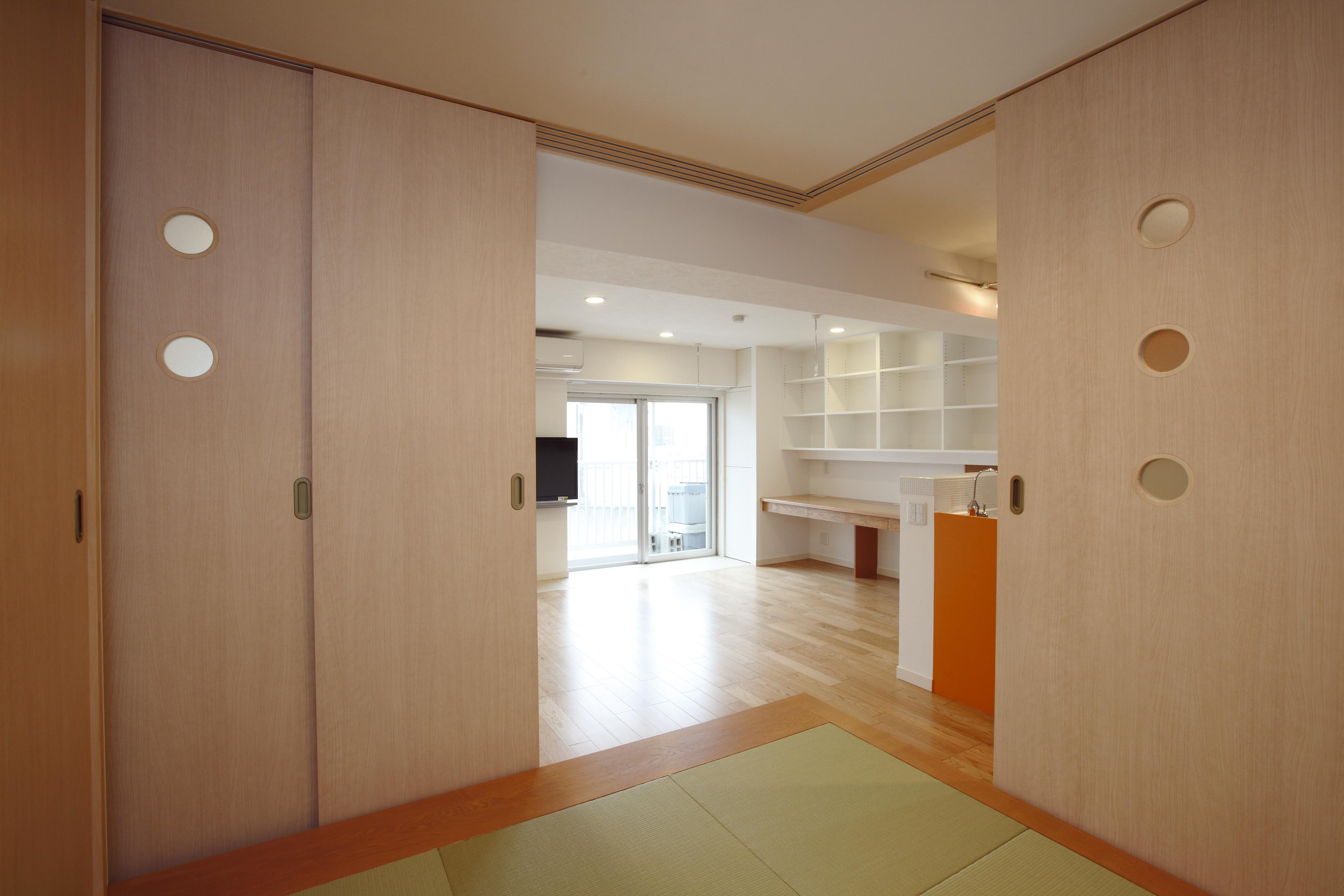 個室、和室、畳部屋、小上がり、和モダン、和風、リノベーション東京