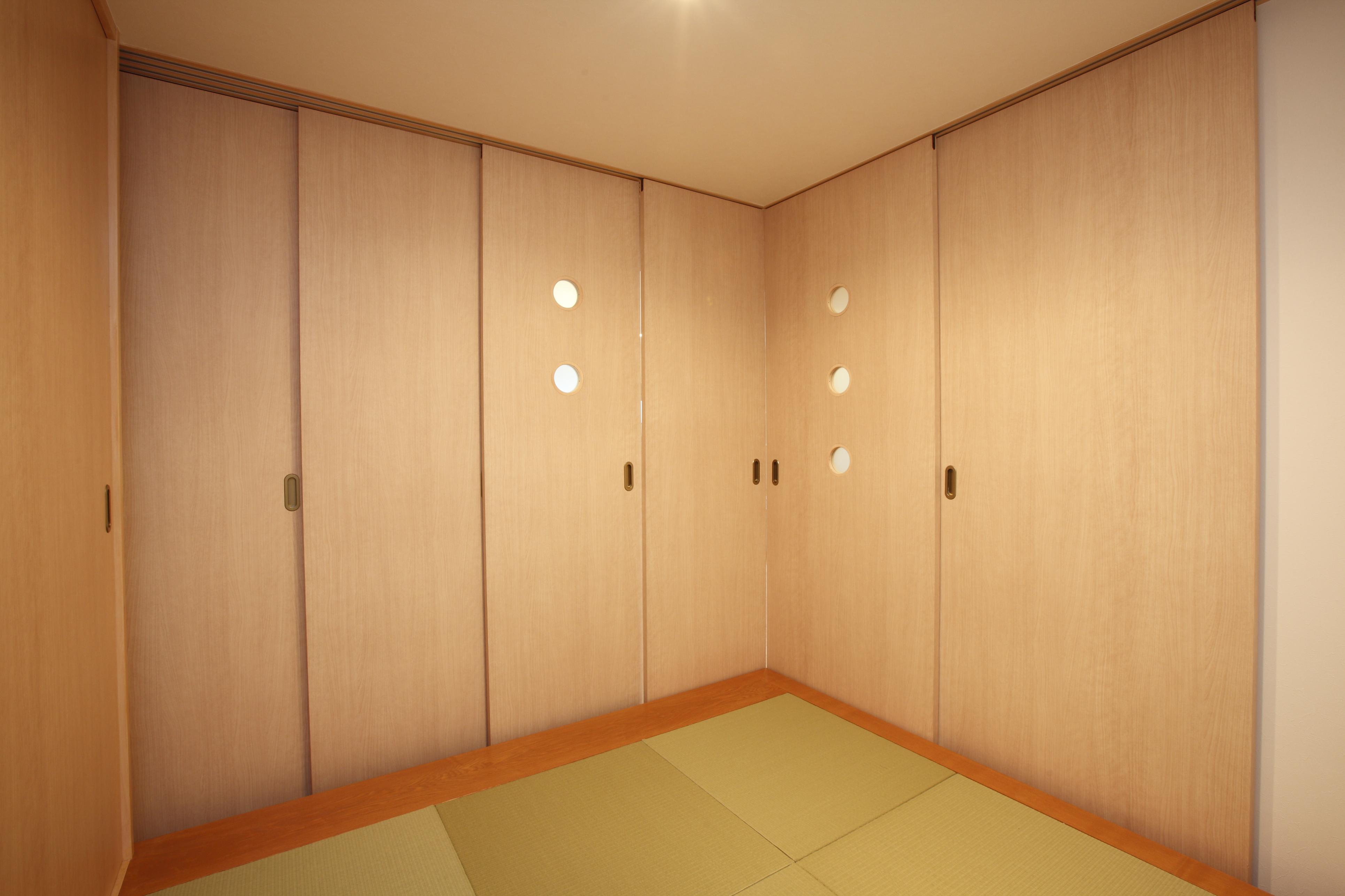 和室、小上がり、引き戸、木製、リノベーション東京