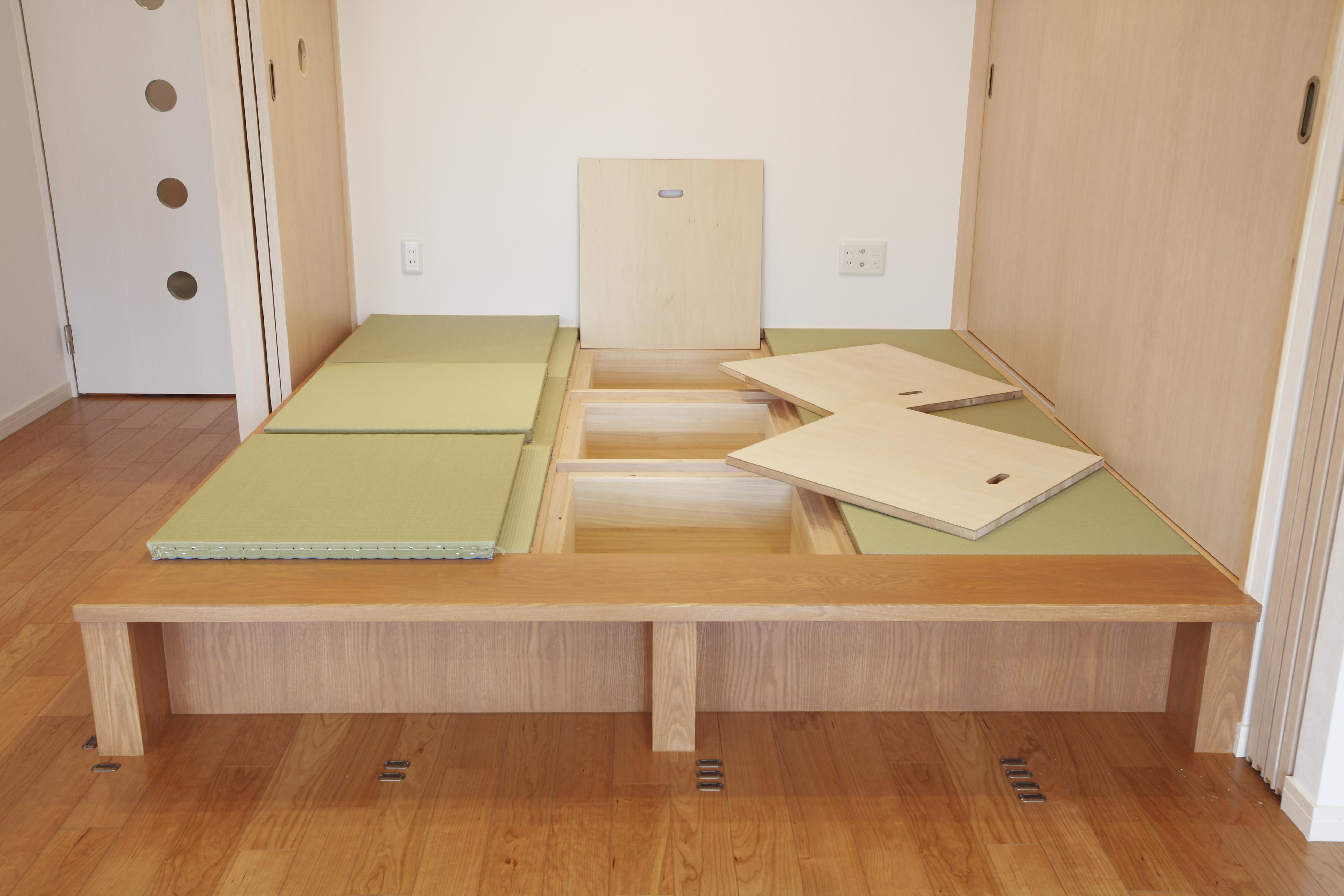 床下、収納、和室、小上がり、マンションリノベーション、リノベーション東京