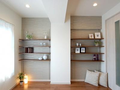 「リノステージ」のリノベーション事例「デザイン棚が魅力的なお部屋」