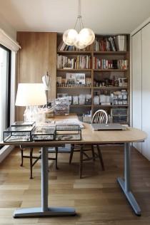 アトリエ、書斎、趣味、部屋、引き戸、動線、イケア、ペンダントライト、照明