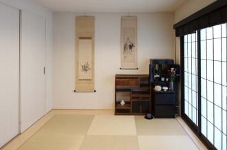 和室、畳、寝室、障子風、インナーサッシ、仏壇、襖、押し入れ、布団、WIC、ウォークインクローゼット