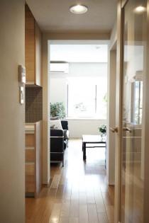 リビング、廊下、動線、回遊、ガラス、ドア、三井のリフォーム、リノベーション