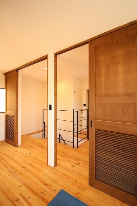 高間口、バリアフリー、床、回遊、開放、フローリング、戸建リノベーション、ジーフラット