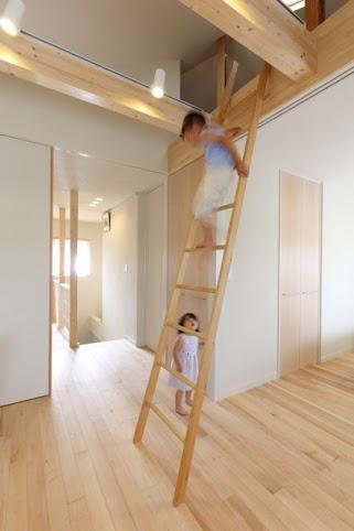 ロフト、屋根裏、梯子、プレイルーム、戸建リノベーション、+Marchitects、プラスエム・アーキテクツ