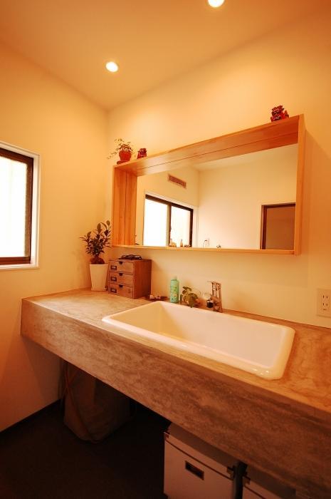 自然素材、天然木、洗面台、シンク、サニタリー、脱衣所、G-FLAT