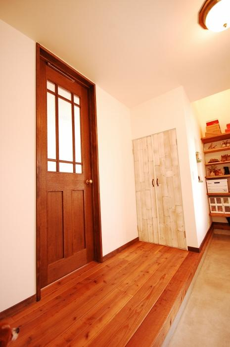廊下、建具、ドア、古材、間口、戸建、リノベーション、G-FLAT