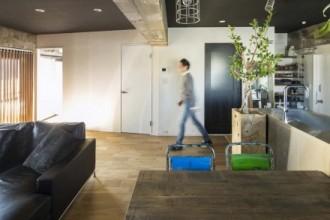壁面、視界、寝室、壁構造、コンクリート、リノベーション、秀建
