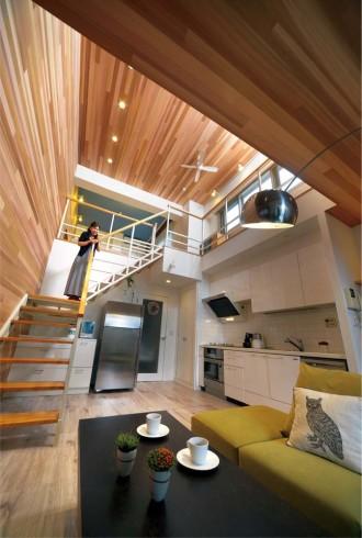 リビング、天井高、キッチン、Ⅰ型、床暖房、リノベーション、株式会社和久環組、Beathouse