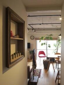 廊下、ニッチ、壁、収納、アンティーク、棚、ウィンテージ、リノベーション、リノベる。
