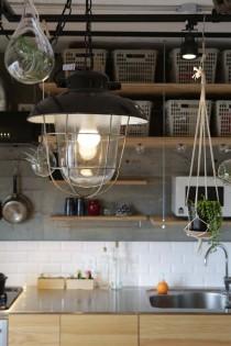 ダクトレール、植物、デッキランプ、照明、電球、吊り下げ、ウィンテージ、リノベーション