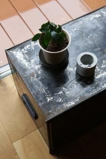 ローテーブル、トランク、観葉植物、グリーン、マンションリノベーション、リノベる。