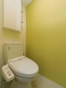トイレ、アクセントクロス、壁紙、マンション、リノベーション、リフォーム、リノベの一歩