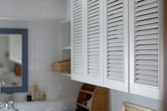 調湿、ルーバー、収納扉、洗面台、サニタリー、脱衣所、パウダールーム、洗濯機、グラデン