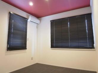 タイル床、ブラインド、モダン、洋室、戸建、リノベーション、ロクサ、ROKUSA