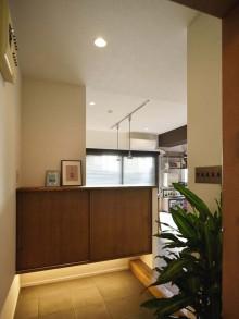 玄関、収納、靴、間接照明、マンション、リノベーション、スタイル工房