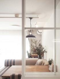 キッチン、袖壁、ガラス、室内窓、自然光、採光、リノベーション、プラスエム