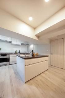 アイランドキッチン、トイレ、動線、設計、間取り、マンション、リノベーション