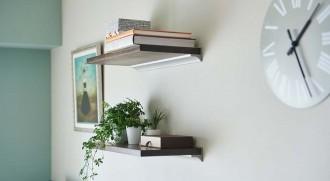 リビング、壁、収納、飾り棚、グリーン、インテリア、リノベーション