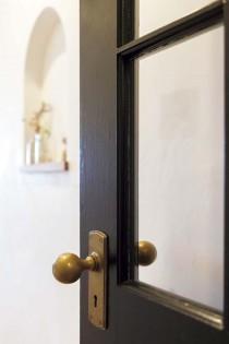LDK、ドア、ガラス、真鍮、ドアノブ、マンション、リフォーム、リノベーション、アズ建設