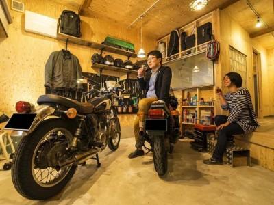 「QUALIA クオリア」のリノベーション事例「大好きなバイクと暮らすラスティックな素材感を楽しむ住まい」