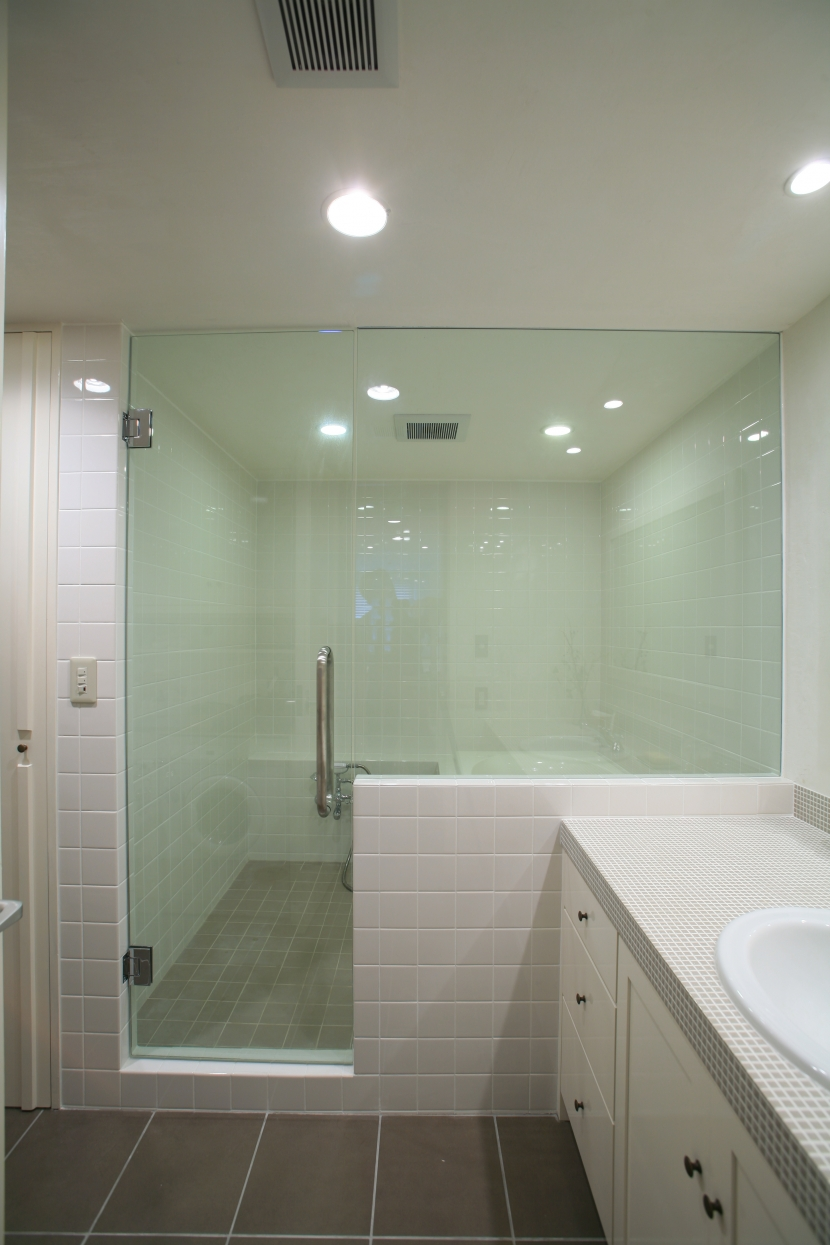 バスルーム,ガラス張り,浴室,リノベーション,FILE